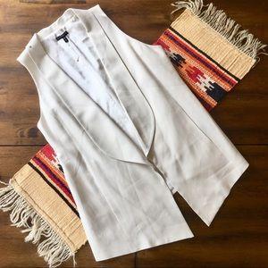 Eileen Fisher 100% Silk Suit Vest Jacket Cream M